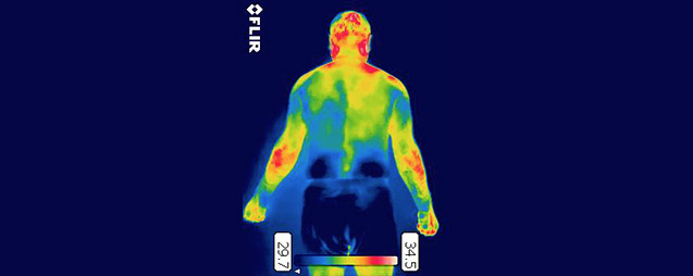 Back overload training overuse injury thermography infrared