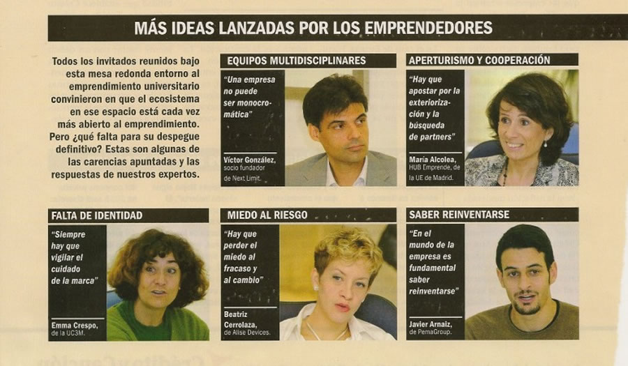 """Enterpreneurs from the University"" Revista Emprendedores & BBVA Innovation Center"