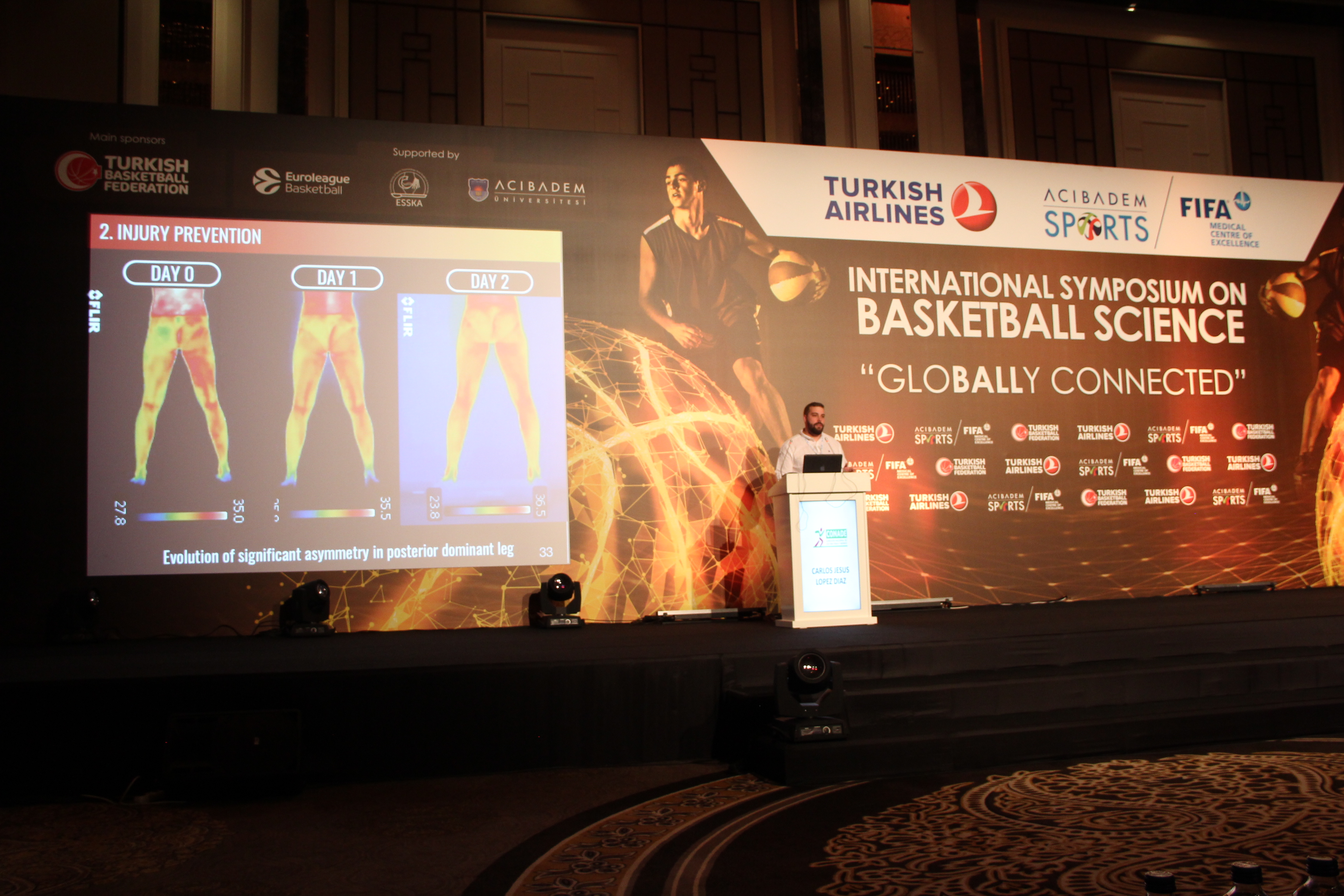 ThermoHuman during the first Acibadem International Symposium on Basketball Sciences in Turkey