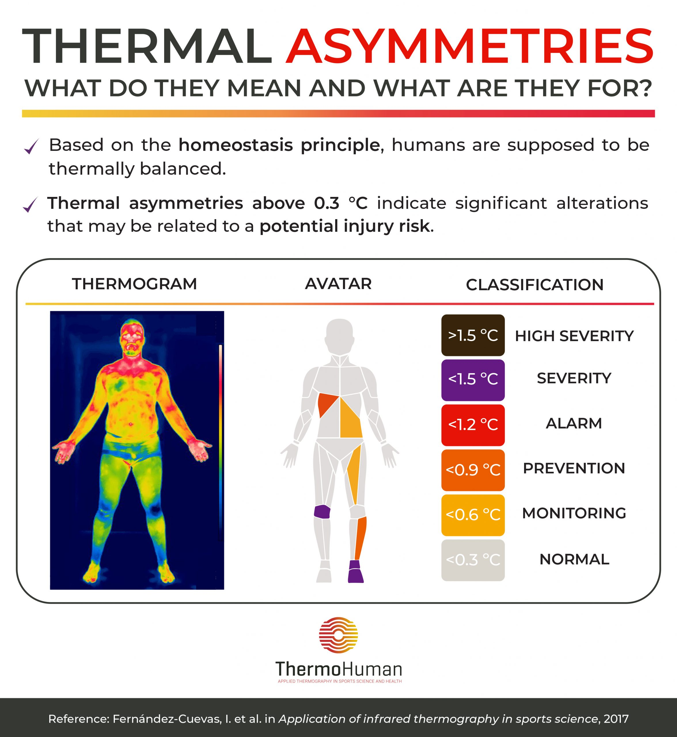 Thermal asymmetries. What do they mean and what are they for?